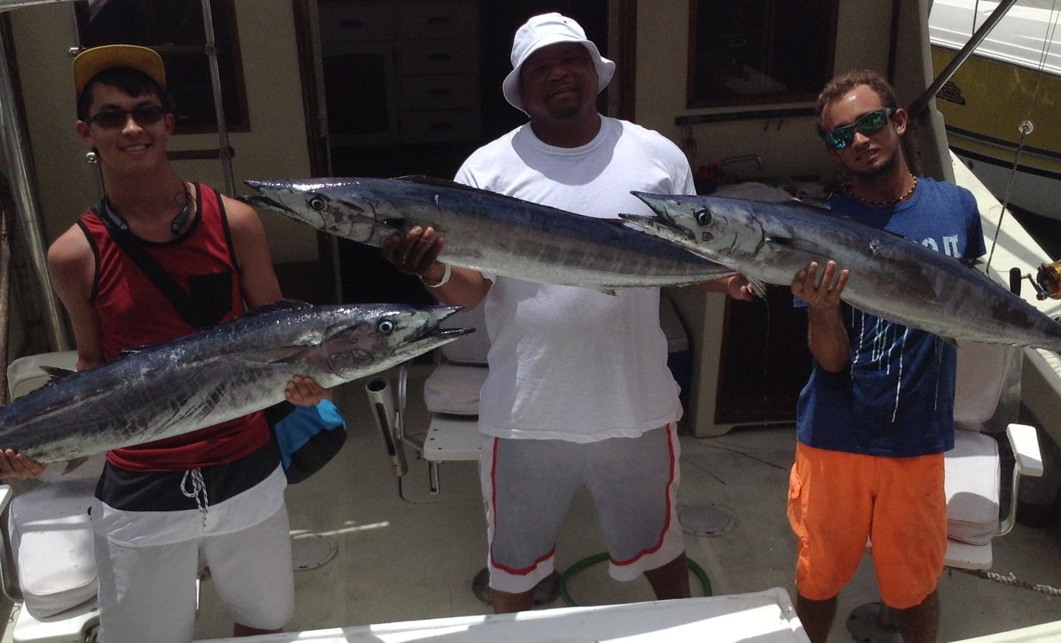 Catch of the Day on Cannon II Fishing Charters in Barbados.