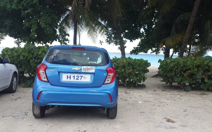 Car Parked at the Beach - Rent with Direct Car Rentals.