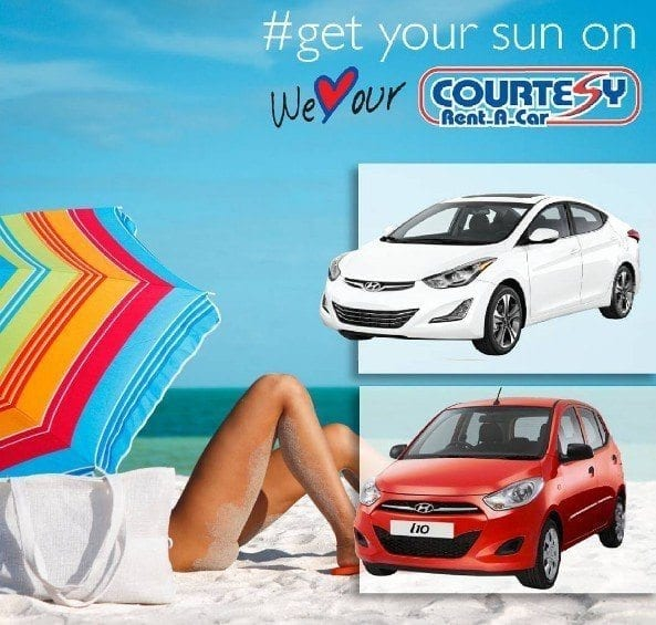 Get to the beach in a car from Courtesy Rent A Car.