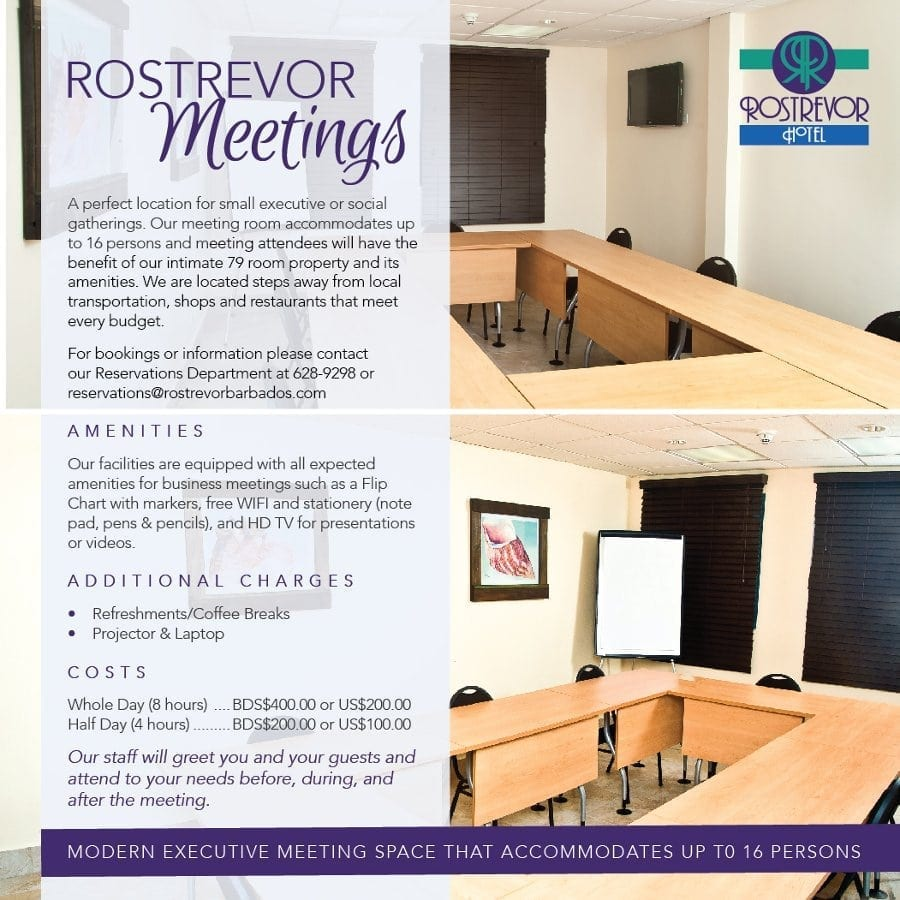 The perfect location for small executive or social gatherings - Rostrevor Meetings in Barbados.