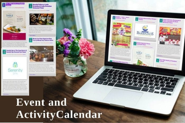 Activities and Events Calendar Promotion