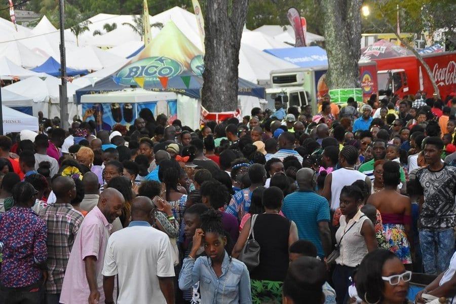 Spectators visit Agrofest in Barbados.