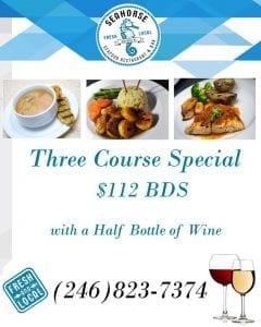 3 Course Dinner Special