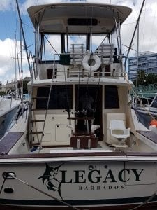 Hop aboard Legacy Fishing Charters in Barbados.