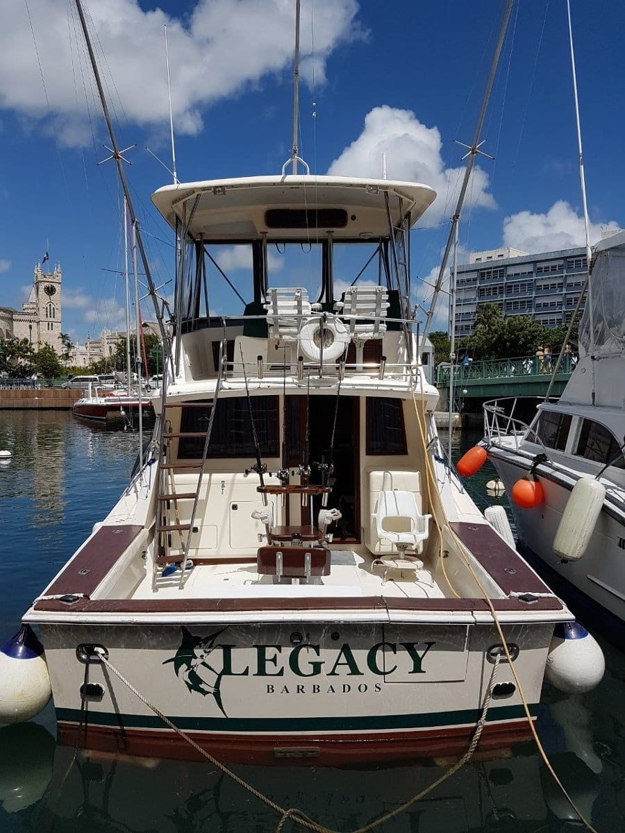 Lets Go Fishing in Barbados aboard Legacy Fishing Charters.