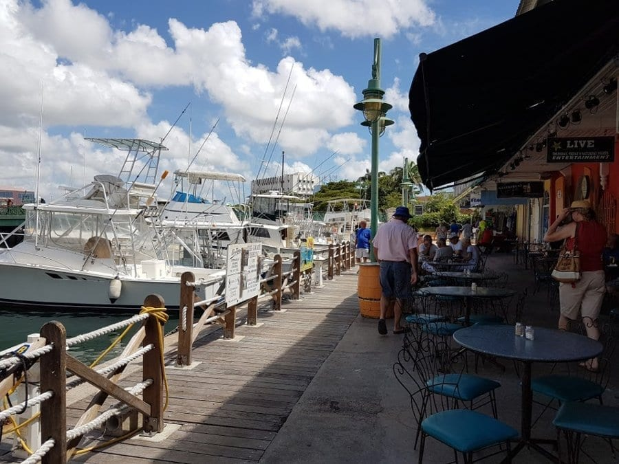 Path to Legacy Fishing Charters in Barbados alongside the Careenage in Bridgetown, Barbados.