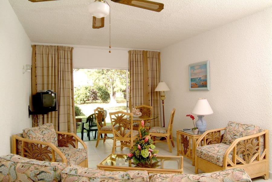 Large comfortable living room available at Plum Tree Club Apartments.