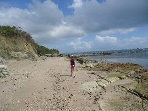 Walking on Bath Beach
