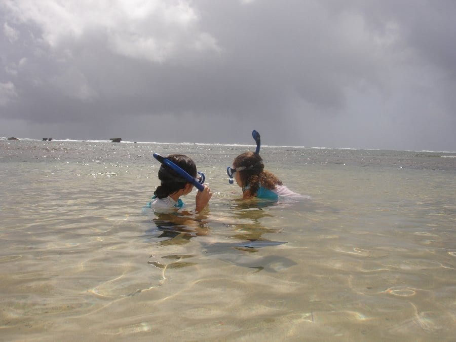 Snorkeling at Bath Beach