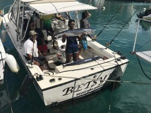 Fun day fishing in Barbados