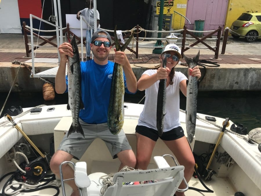 3 Barracudas and 1 Mahi Mahi