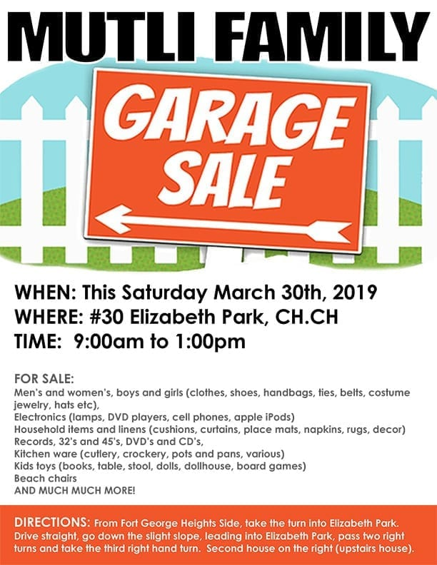 ab370b68b Multi-Family Garage Sale - Totally Barbados