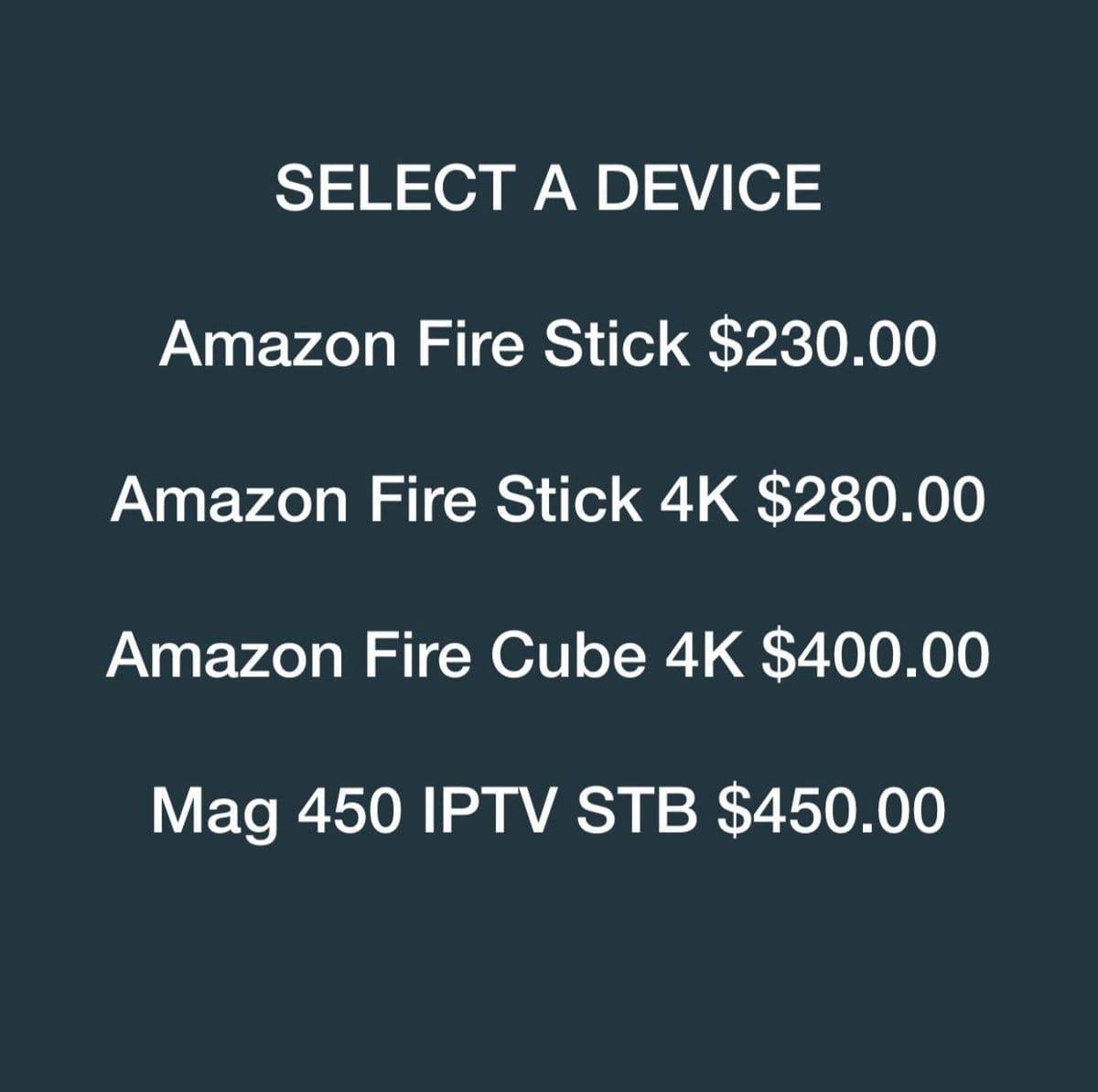 Prices - FWTV