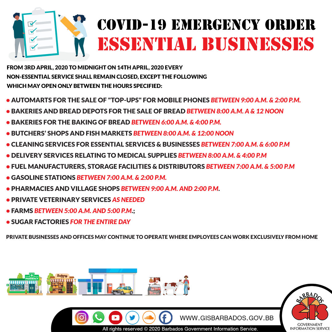 List of Essential Businesses