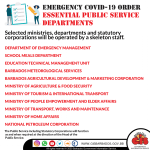 Essential Public Service Departments
