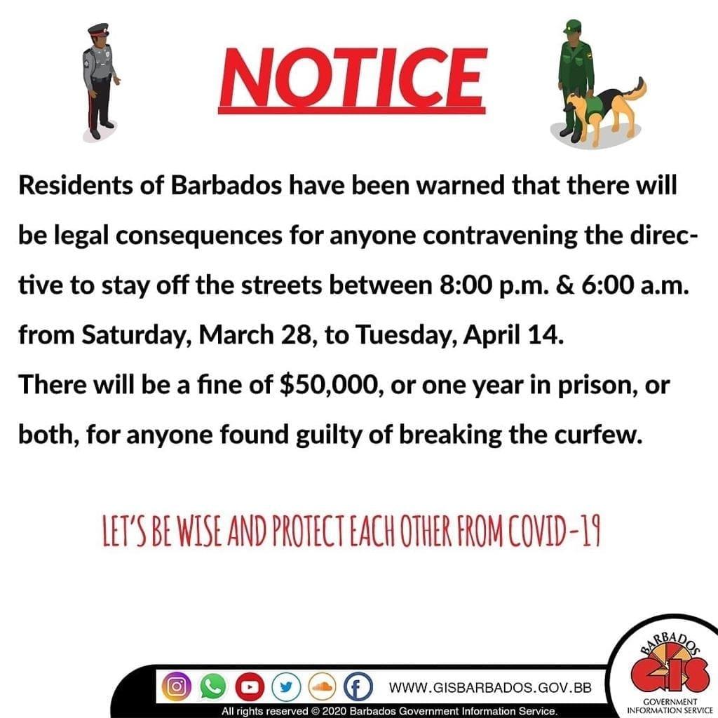 Notice - Covid-19 Curfew