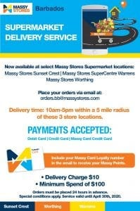 Massy Stores Supermarket Delivery Service