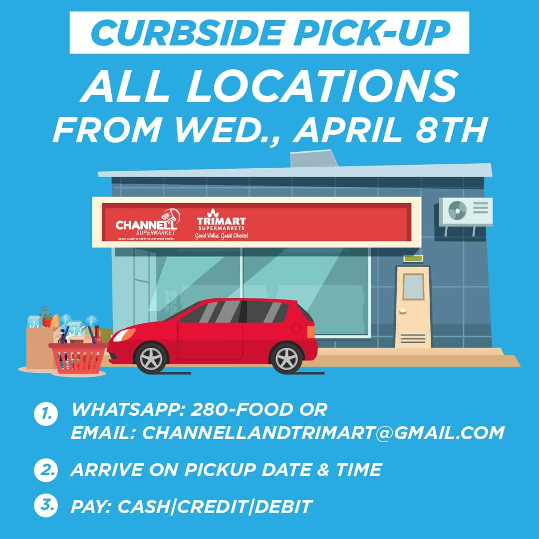 Channell and Trimart Curbside Pick-Up