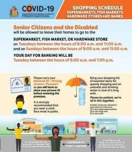 Barbados Shopping Schedule for Senior Citizens and Disabled