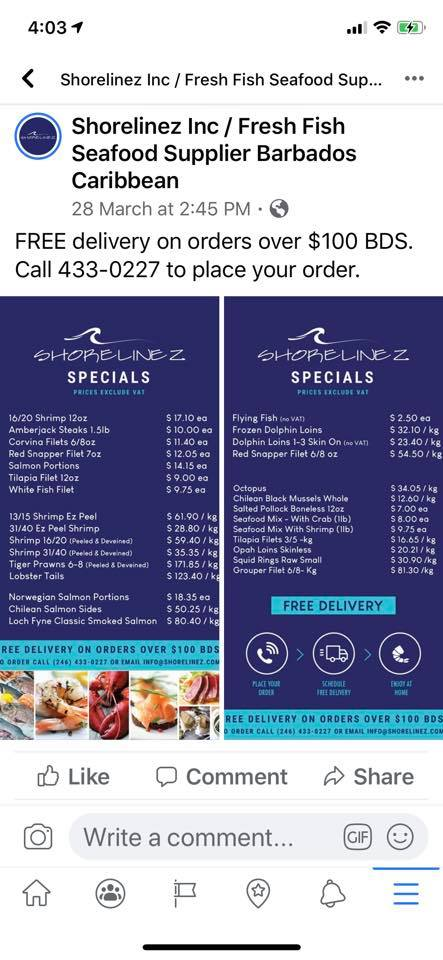 Shorelinez Delivers Fresh Seafood